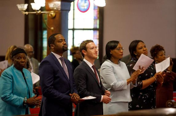 Billionaire Tech Mogul, Mark Zuckerberg visits the scene of the Charleston church massacre