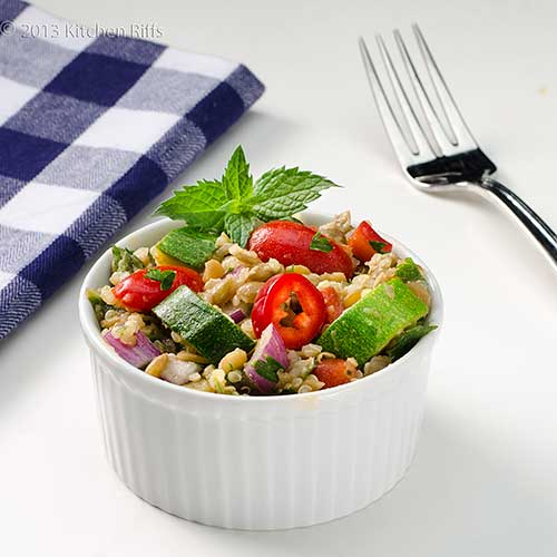 Lentil, Quinoa, and Zucchini Salad