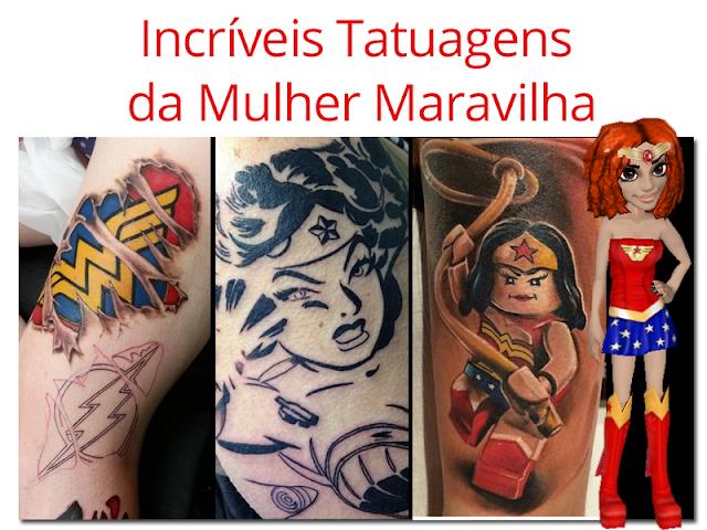 Tatuagens da Mulher Maravilha no blog mineira sem freio