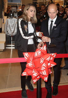 Cara Delevingne, H&M opening in the Westfield World Trade Center in NYC