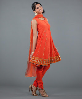 Salwar Kameez in Orange