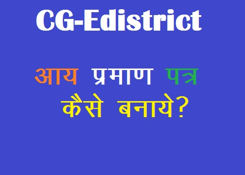 e-district se aay prman patra kaise banaye