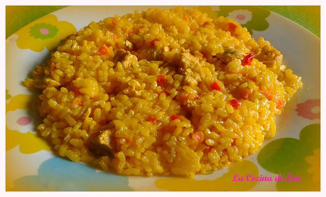 arroz verduras pollo pavo