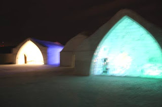 Ice Hotel At Night