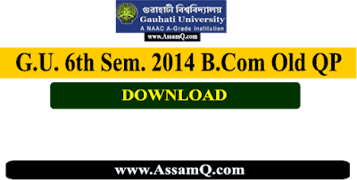 GU B.Com 6th Sem 2014 | Gauhati University  Old year Question Papers Download [All Subjects]