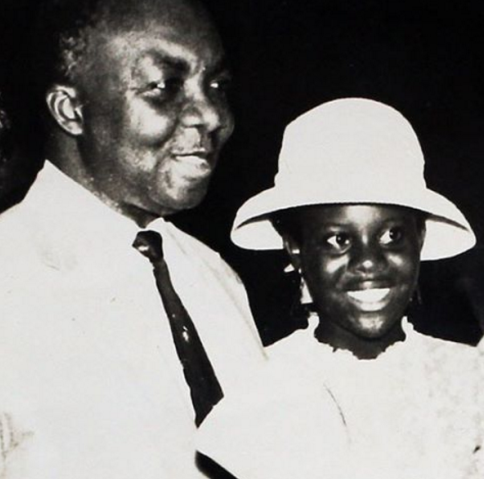 Veteran actor Joke Silva shares a throwback photo with her late dad