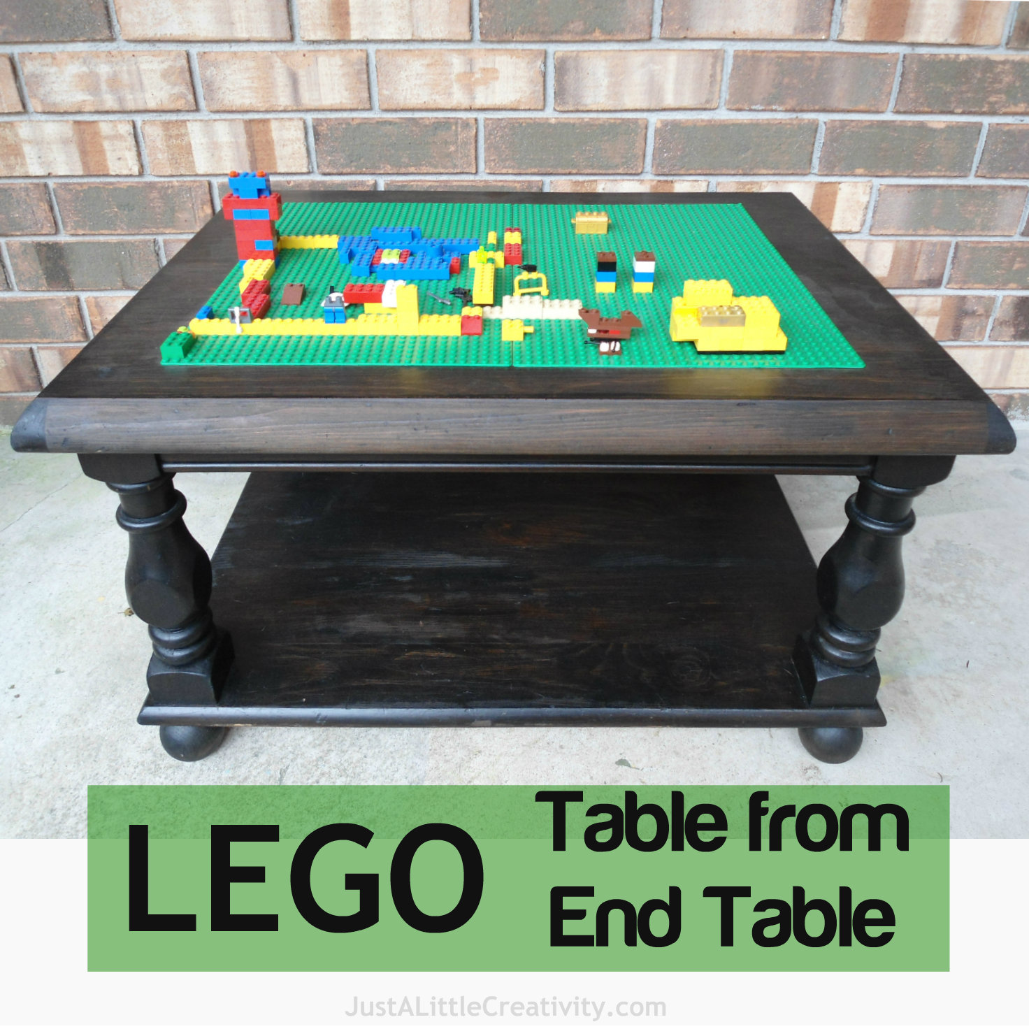 Make A LEGO Table From An Old End Table {DIY}