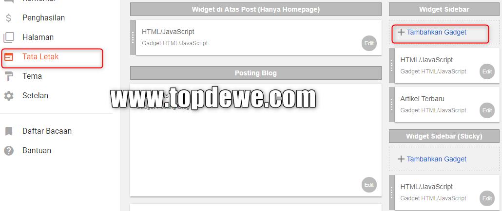 Cara Memasang Kode Iklan Adsense Di Blog Terbaru Topdewe Com