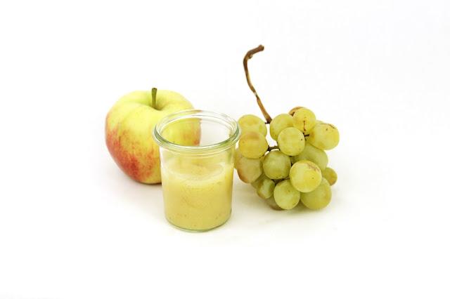 compote pomme raisin pour bébé allergique aux proteines de lait de vache