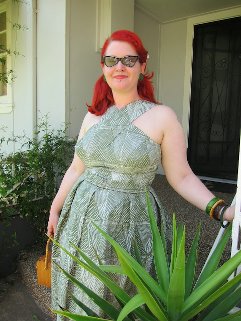 1950s tiki shaheen dress vintage plus size hawaiian repro