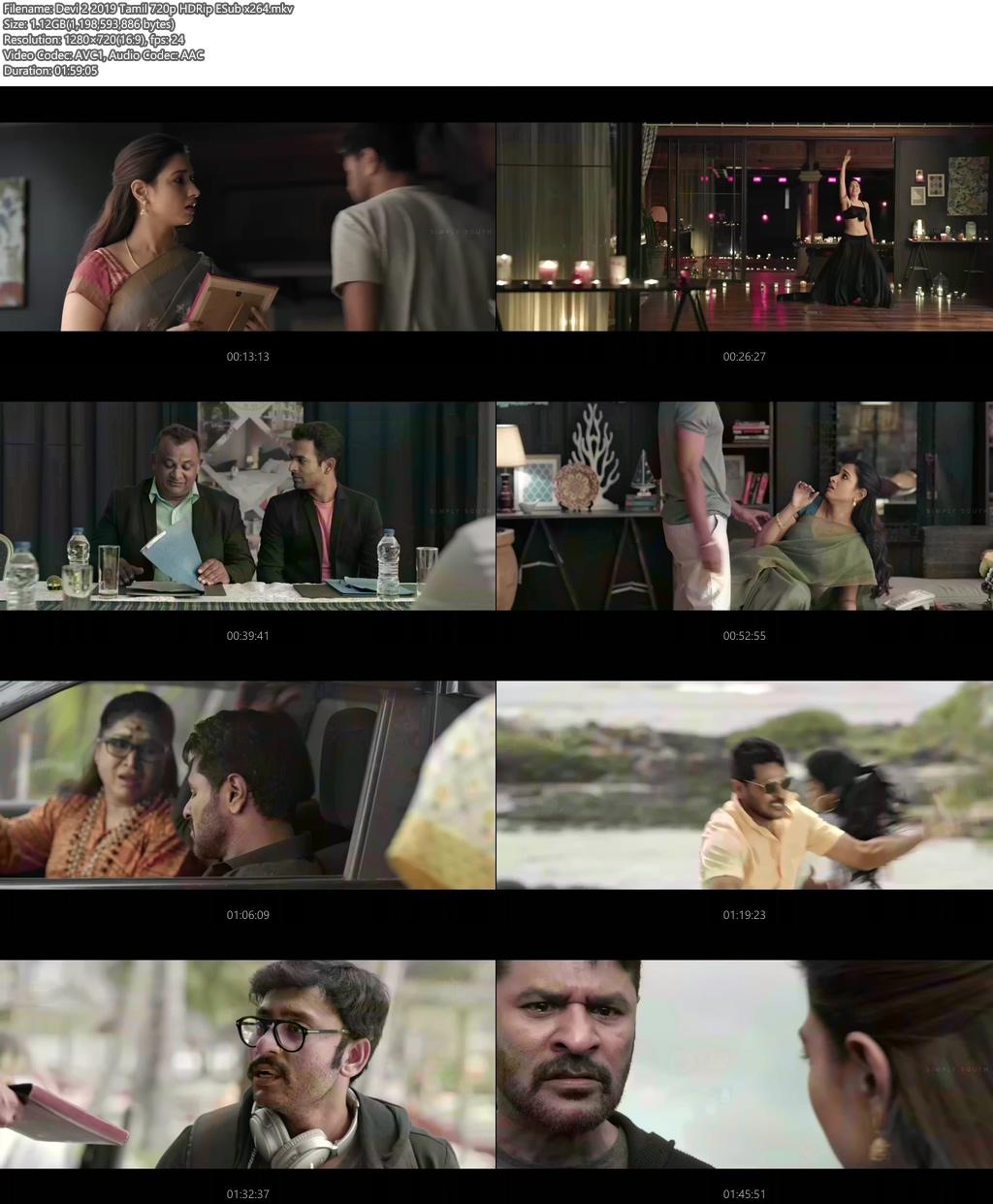 Devi 2 2019 Tamil 720p HDRip ESub x264 | 480p 300MB | 100MB HEVC Screenshot