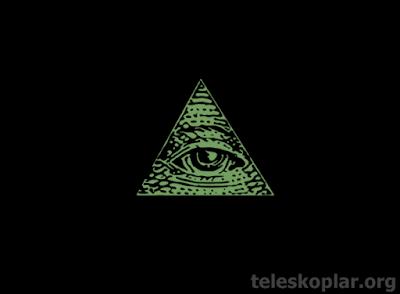 üçgen göz illuminati sembolü