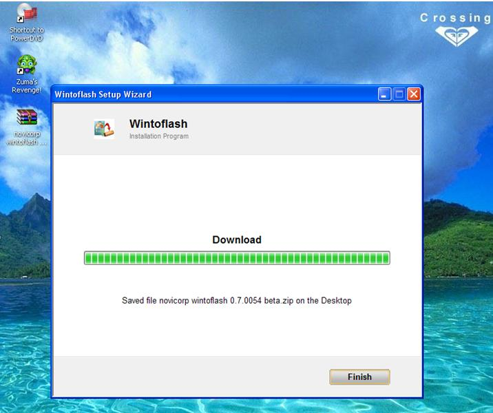 Proses download Wintoflash