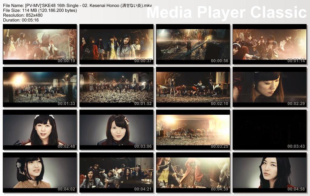 [MUSIC VIDEO] SKE48 16th Single – 02. Kesenai Honoo / 消せない炎 (2014.12.10/MKV/RAR)