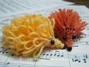 knitted porcupine