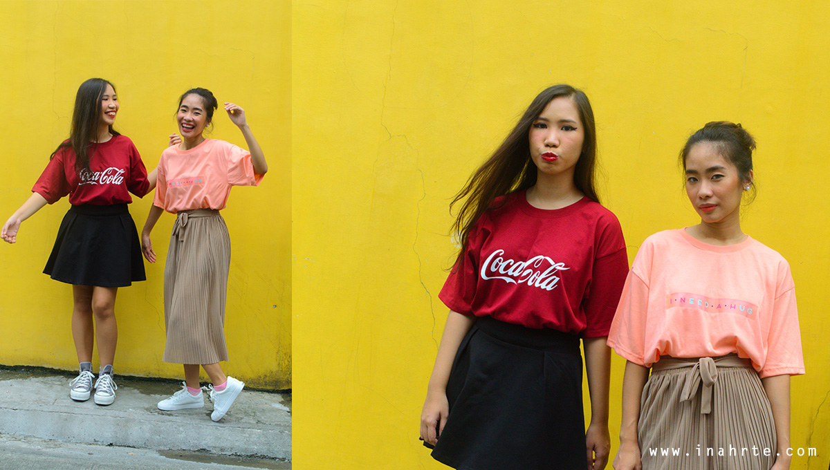 Customized oversized tshirt outdoor shoot