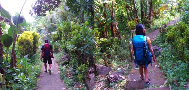 Trek to Bugsukan Beach and Falls and Cliffs