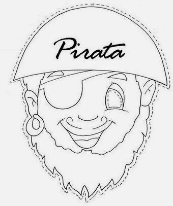 Pirate Boy:  Free Mask Template.