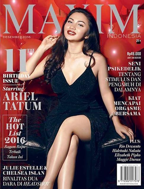 Foto Ariel Tatum di Majalah Maxim, UKURAN BESAR