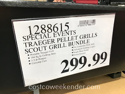 Deal for the Traeger Scout Grill (Model TFT18PLD) at Costco
