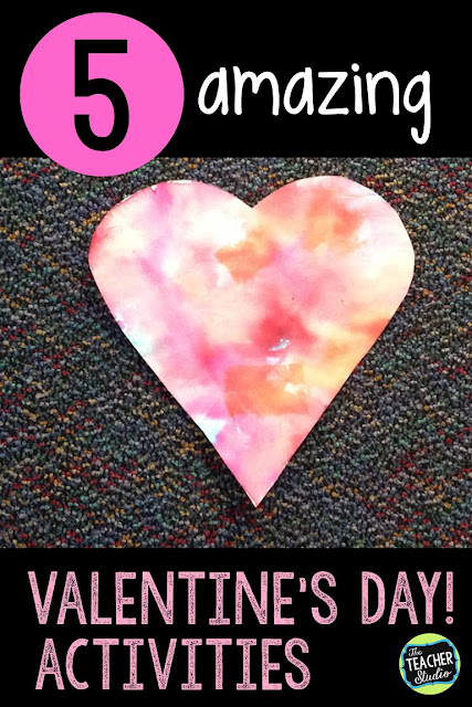 Finding meaningful Valentine's Day activities isn't always easy.  This set of 5 Valentine's activities give you Valentine art, Valentine math, Valentine writing, and more! Valentine projects, Valentine printables, Valentine bulletin board, Valentine problem solving