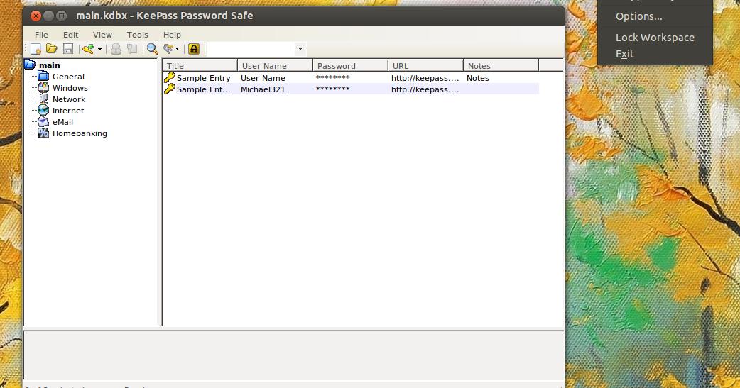 KeePass 2 AppIndicator And AppMenu Extensions For Ubuntu
