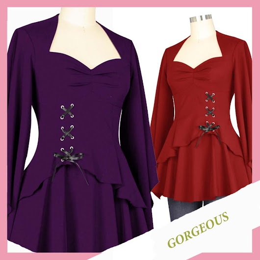 2x Gothic Top | Gorgeous gothic Angel sleeved Top