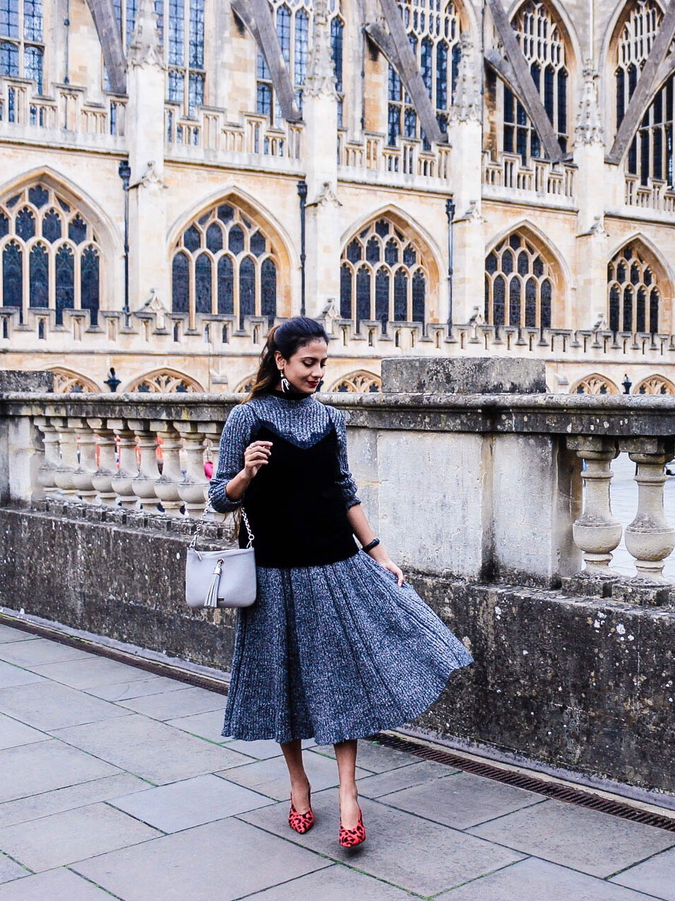 what to wear with midi skirt in winter, the midi skirt, matching outfit sets, matching skirt and top outfits, midi skirt ideas, knitwear trend, winter knit skirt, autumn styling, fresh styling 2016, fresh layering, layering idea 2016, street style, 2016 top street style, ribbed matching set, sweater matching set, chicwish, effortless chic, parisian look, chicwish skirt, chicwish review, chicwish outfit, polished midi, how to wear midi, style midi, red leopard shoes, best blogger outfits, 2016 blogger outfit, 2016 winter outfit idea, winter outfit idea, slingback, topshop slingback, lip colour with grey, jumper set, uk blog, london blog, top indian blog, indian luxury blog, styling a midi skirt, midi skirt and sweater, midi skirt and blouse, high skirt, grey midi skirt outfit, simple skirt, modern skirts, midi skirt fashion, midi skirt trend