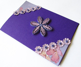 2015 handmade quilling girl birthday greeting card - quillingpaperdesigns