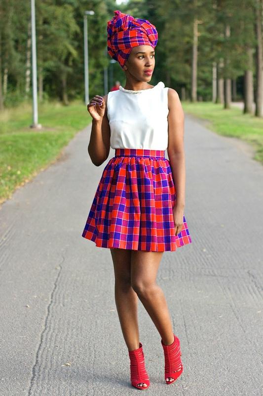 maasai print skirt