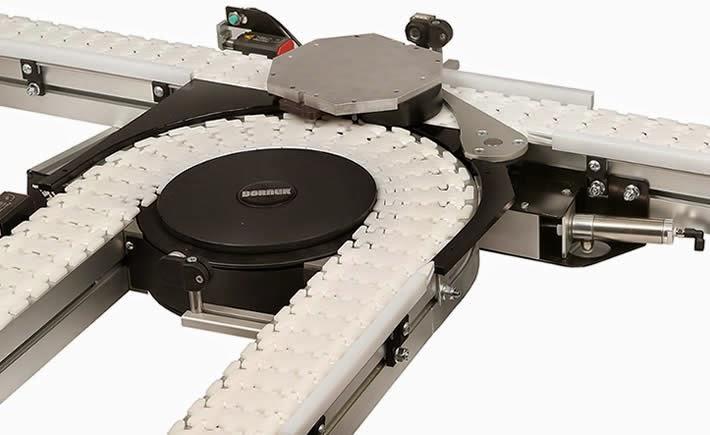 La nueva serie 2200 SmartFlex de Dorner comprende una línea de transportadores con cadena de tablilla que brinda alto desempeño y flexibilidad. (Foto: Dorner Mfg)