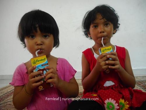 UHT Fernleaf,Kanak-kanak sukakan fernleaf,susu tidak muak diminum susu fernleaf