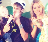 Neymar very early became a father