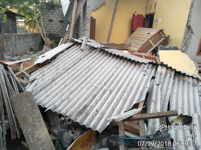 Gempa 6,4 SR di NTB, 3 Tewas dan 12 Luka-luka