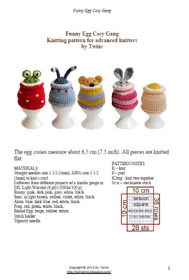 knitted eggcosy, knitted bear, knitted bunny