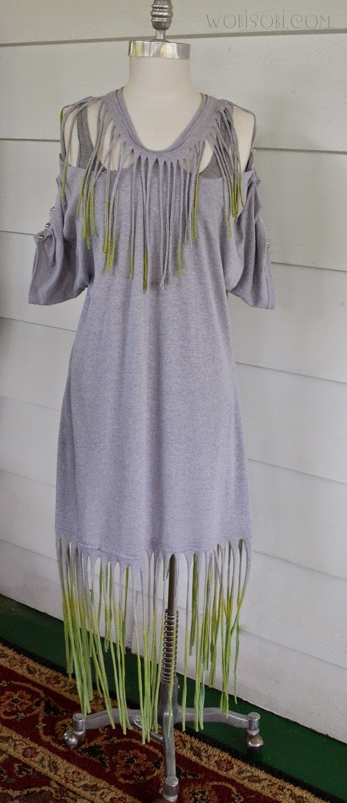 Tie Dyed Fringe Dress Diy Ilovetocreate