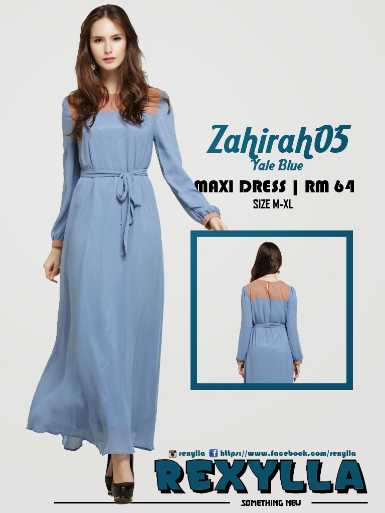 rexylla, maxi dress, zahirah05, yale blue