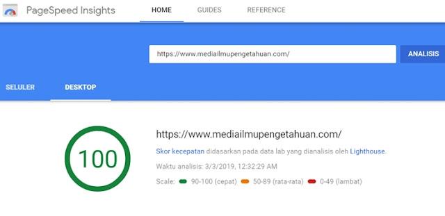 Cek kecepatan loading blog-website