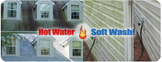 Pressure Washing Vinyl Siding & Asphalt Ugly Shingles in Andover Massachusetts