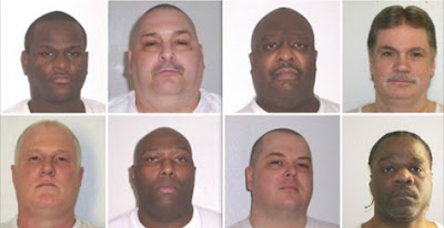 Executions have been set for (top row, from left) Kenneth Williams, Jack Jones Jr., Marcell Williams, Bruce Earl Ward, and (bottom row, from left) Don Davis, Stacey Johnson, Jason McGehee and Ledelle Lee.