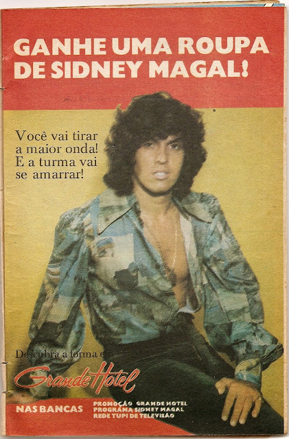 Propaganda do programa do cantor Sidney Magal na TV Tupi em 1979.