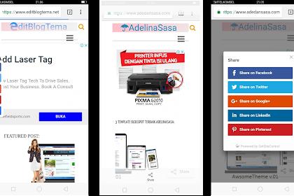 2 tombol berbagi keren dan modern dan paling mudah dipasang ke blog