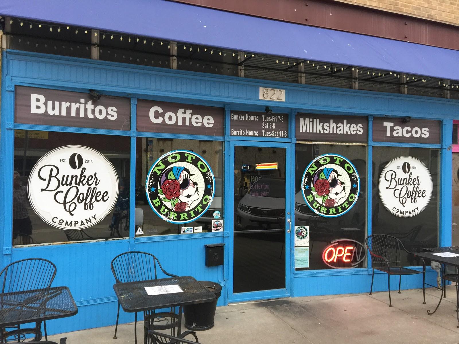Big V tofu burrito at NOTO Burrito in Topeka, Kansas