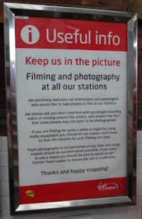 Trainspotting sign at Stockport railway station
