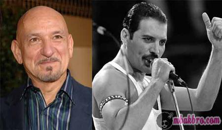 Ben Kingsley dan Freddie Mercury