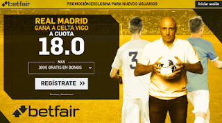 betfair supercuota Real Madrid gana al Celta 7 enero