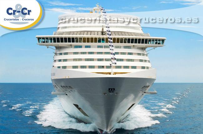 ► MSC Cruceros posicionará en China su barco MSC Splendida en mayo de 2018