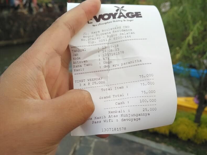 harga tiket masuk devoyage bogor