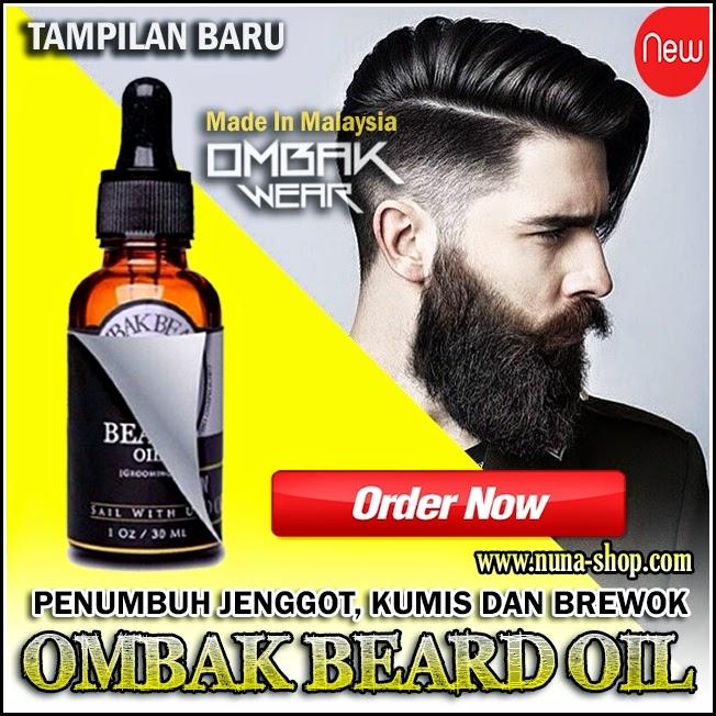 New Ombak Beard Oil Penumbuh Jenggot, Kumis dan Brewok Original 100% Ampuh