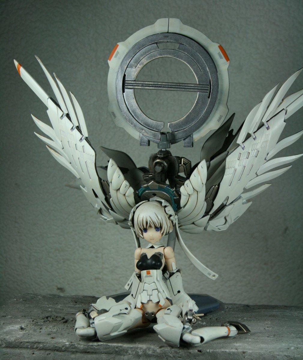 Custom Build: Frame Arms Girl Wraith God RG Wing Gundam